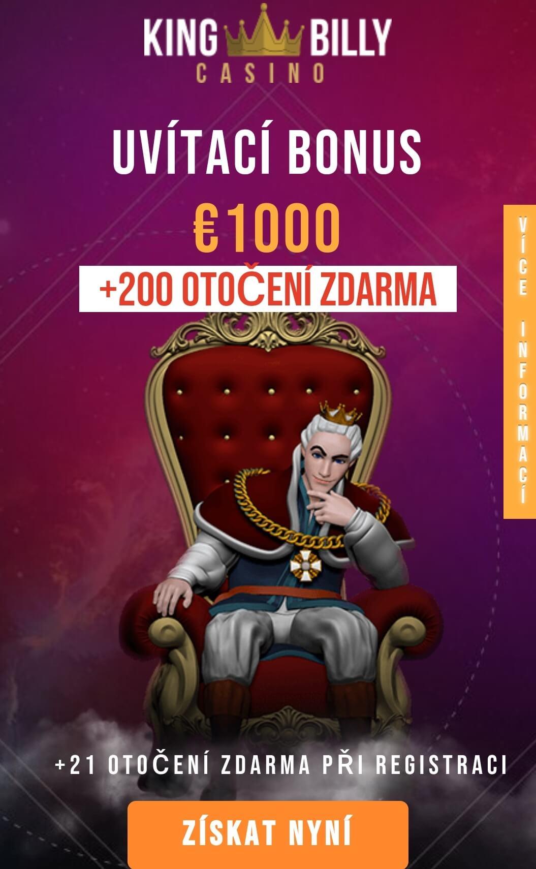 King Billy Casino no deposit bonus