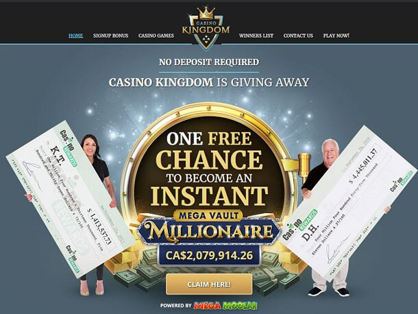 No deposit bonus od Casina Kingdom
