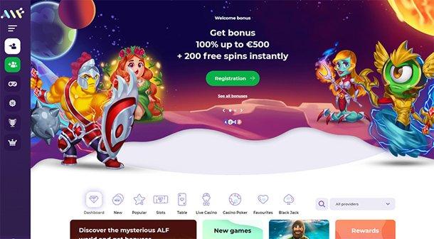 Alf Casino - home page