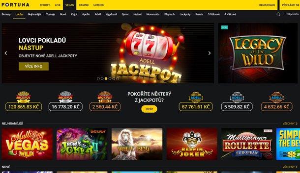 Fortuna Vegas Casino home page