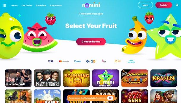 Nomini Casino - home page