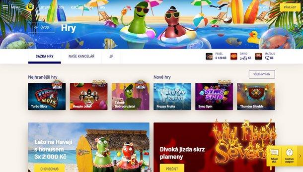 Sazka Hry home page
