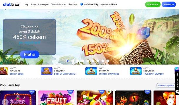 Slottica Casino - home page