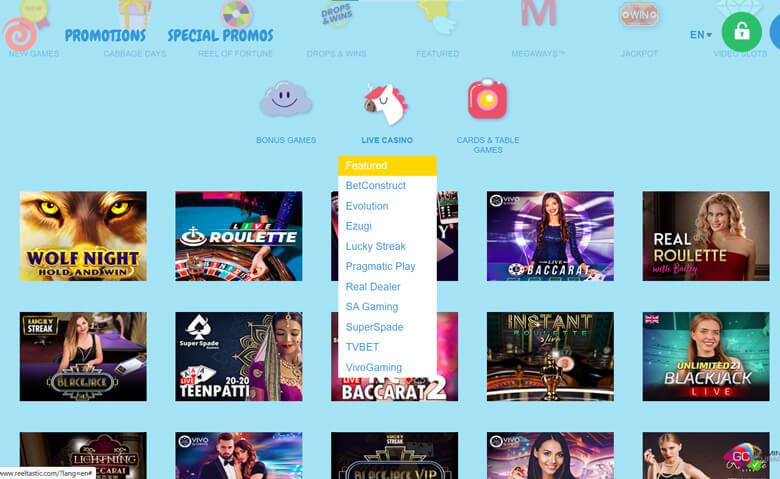 online casino Reeltastic