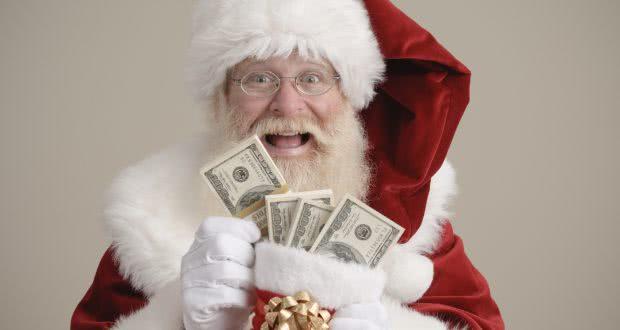 Santa Claus s penězi