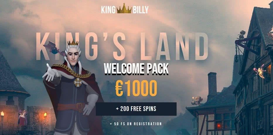 King Billy welcome bonus