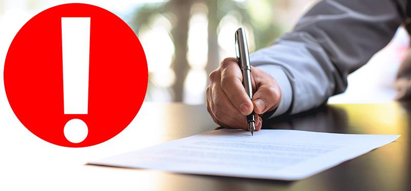 Podepisování smlouvy