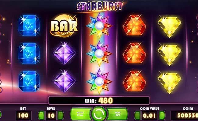 Populární online automat Starburst
