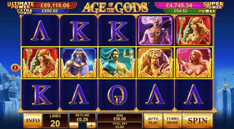 Výherní automat Age of the Gods