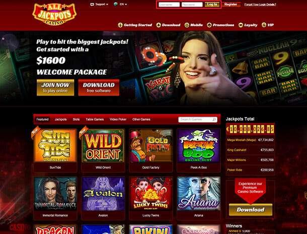 Hazardní provozovna od Jackpot Factory Casinos