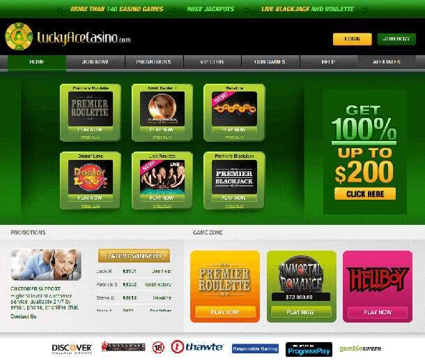 Hazardní provozovna od Lucky Ace Casino