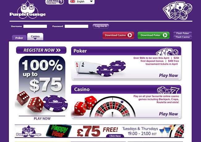 Online casino Purple Lounge Casino and Poker