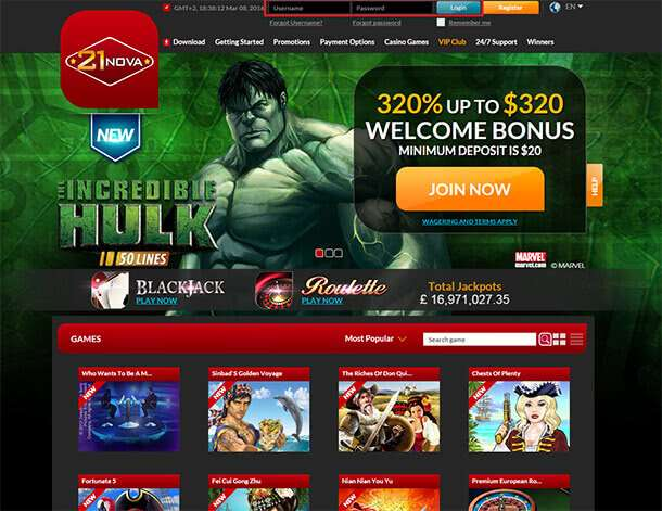 Hazardní provozovna od WHG International Casinos