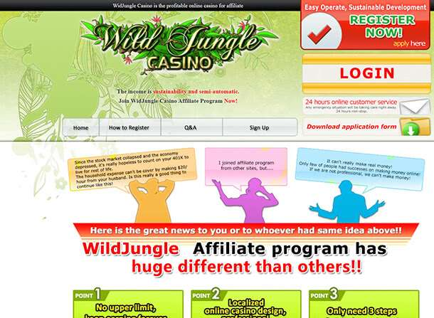 Hazardní provozovna od Wild Jungle Casino