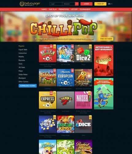 Online casino BetVoyager Casino