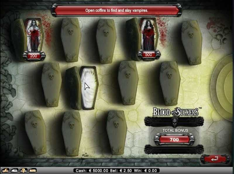 Výherní automat Blood Suckers - rakve (bonus Pick Me)