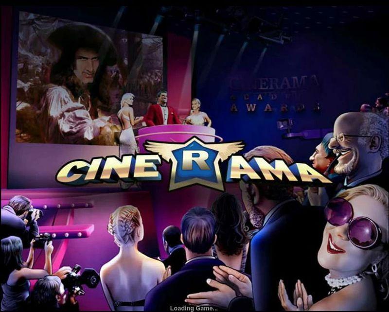 Výherní automat Cinerama - logo a úvodní obrázek