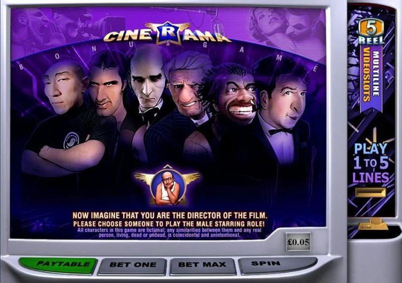 Výherní automat Cinerama - bonus