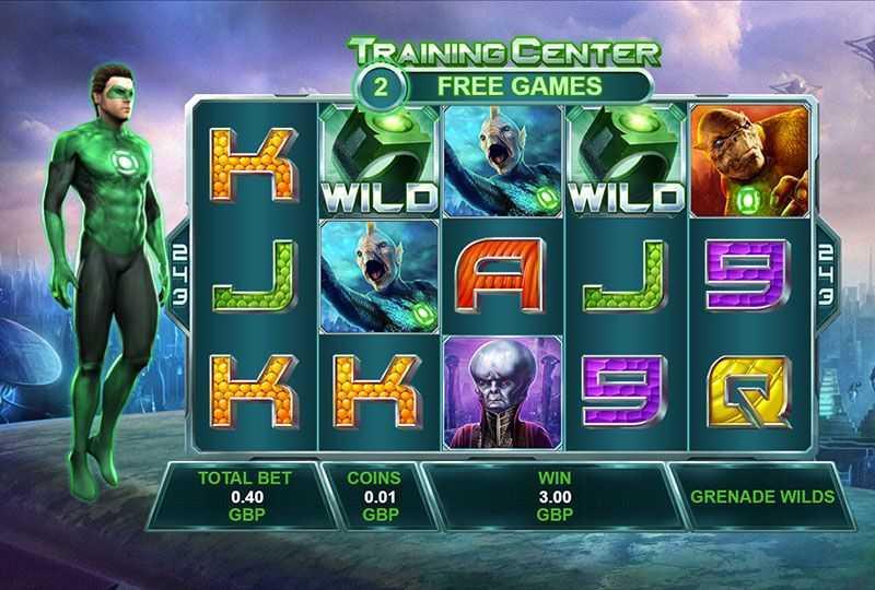 Výherní automat Green Lantern - Training Center
