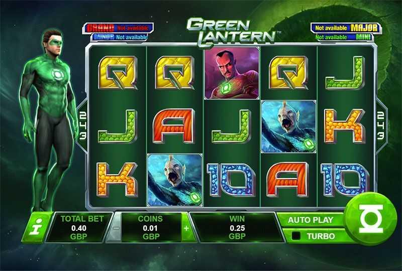 Výherní automat Green Lantern - základní hra