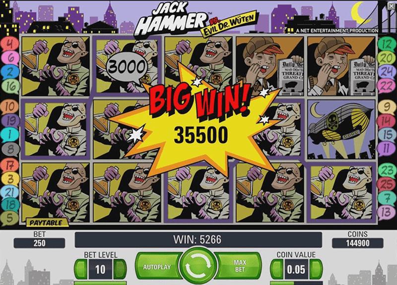 Jack Hammer - velká výhra