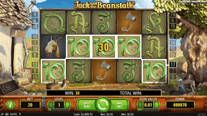 Výhra v Jack and the Beanstalk