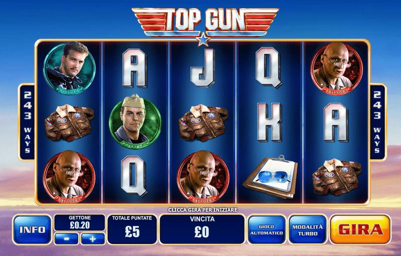 Výherní automat Top Gun - základní hra