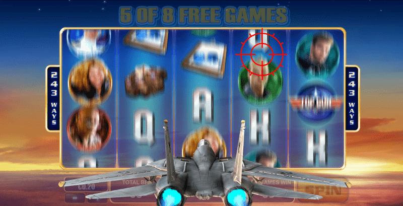 Výherní automat Top Gun - Danger Zone Free Spins (bonus)