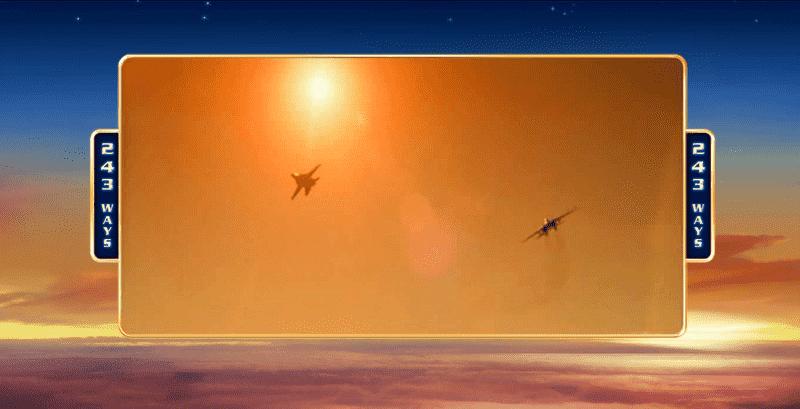 Výherní automat Top Gun - movie clip (stíhací letouny při západu slunce)