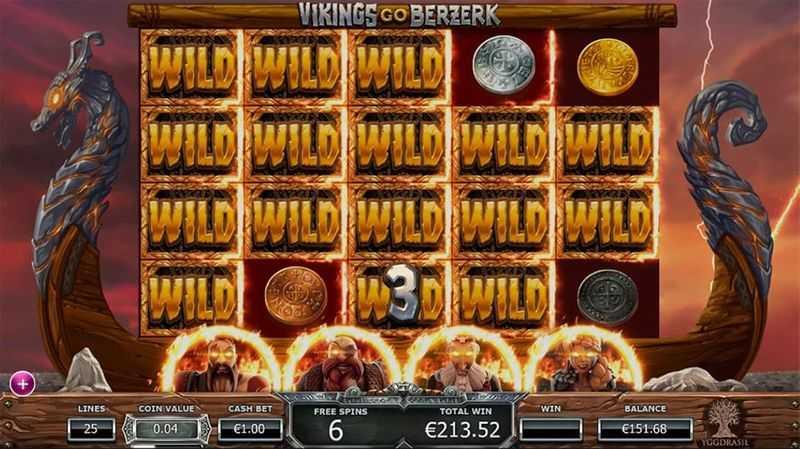 Výherní automat Vikings Go Berzerk - Wildy