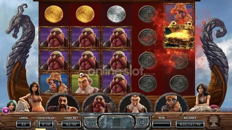 Výherní automat Vikings Go Berzerk - Základní hra