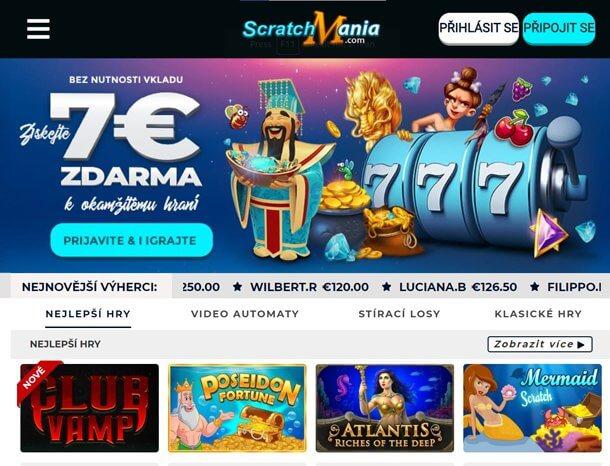 ScratchMania - no deposit bonus