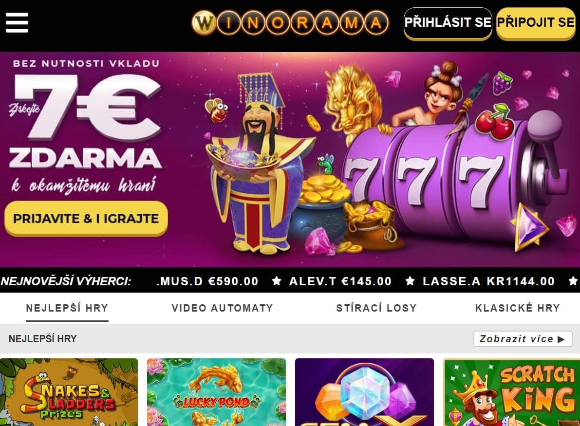 Winorama Casino - no deposit bonus