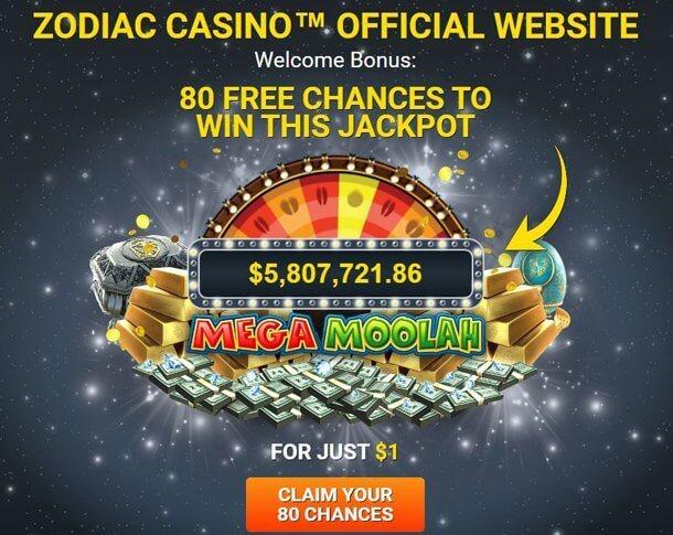 Zodiac Casino - no deposit bonus