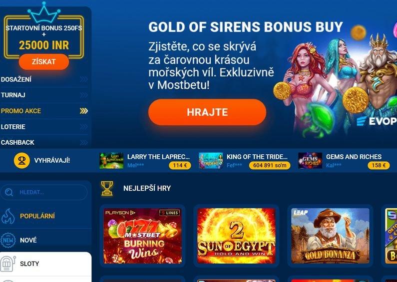 Casino hry v online casinu Mostbet