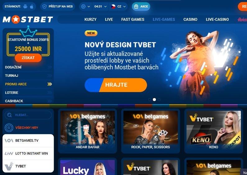 Live casino v online casinu Mostbet