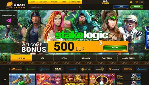Home page online casina Argo Casino