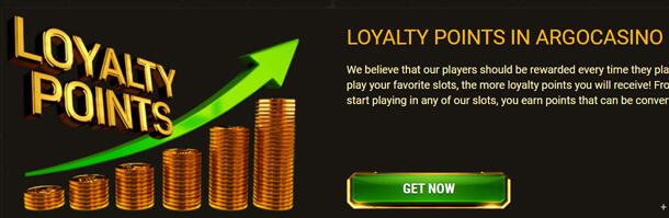 Věrnostní program - online casino Argo Casino