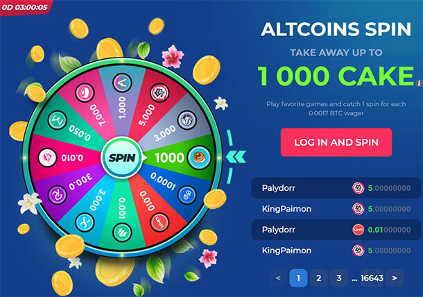 Lucky Spin - online casino Betfury