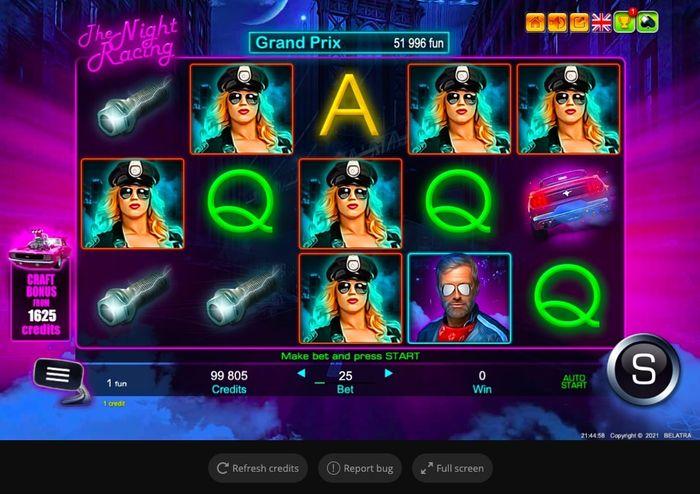The Night Racing - automat od Belatra Gaming v King Billy Casinu