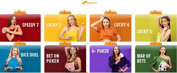 Live casino - detail - online casino EgoCasino