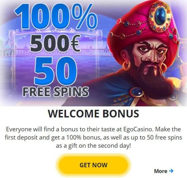 Bonus - online casino EgoCasino