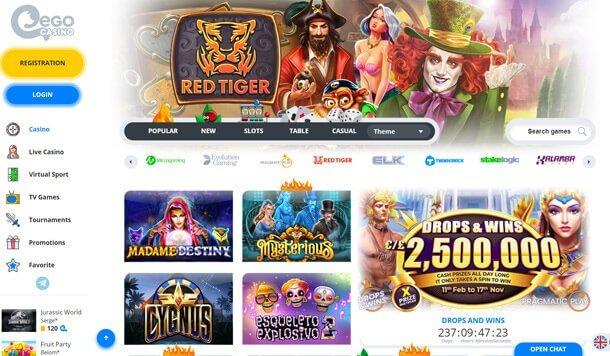 Home page - online casino EgoCasino