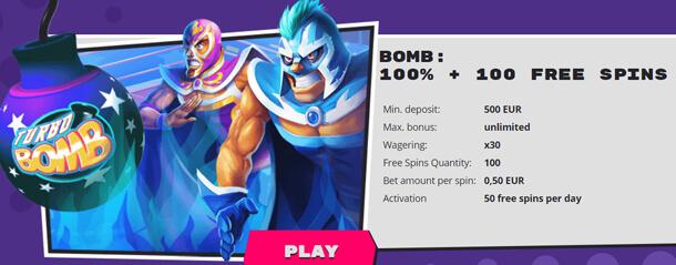 Bonus v online casinu Explosino Casino