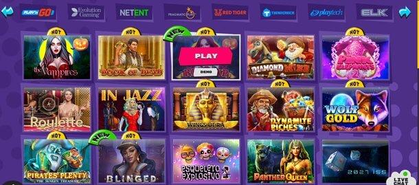 Hazardní hry v online casinu Explosino Casino