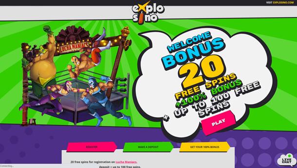 Home page v online casinu Explosino Casino