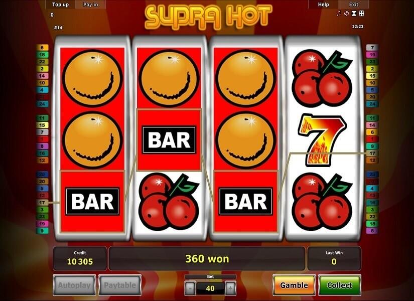 Hrát automat Supra Hot