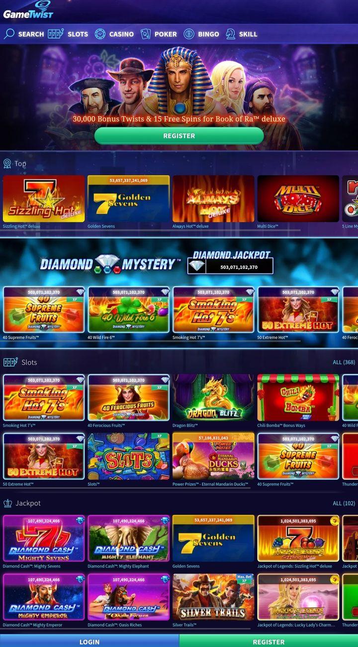 GameTwist home page