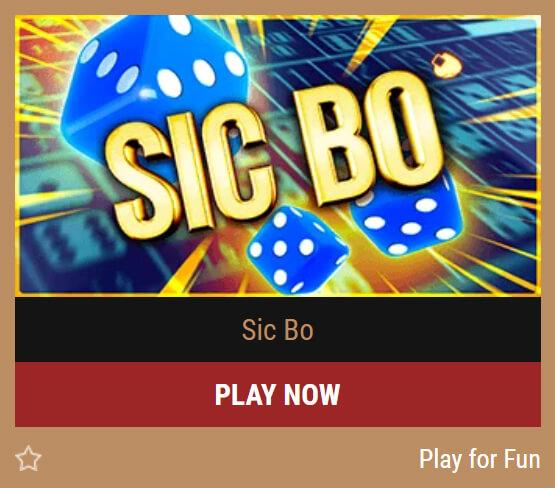 Sic Bo od Belatra Games