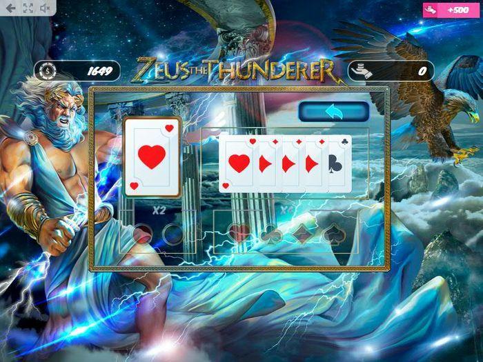 Gamble funkce v Zeus the Thunderer
